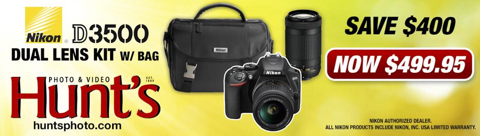 Nikon D3500 Dual Lens Kit with Bag