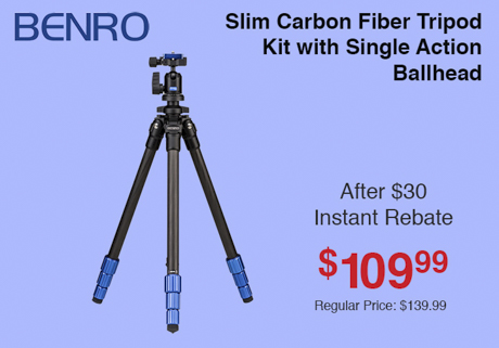 Benro Slim Carbon Fiber Tripod