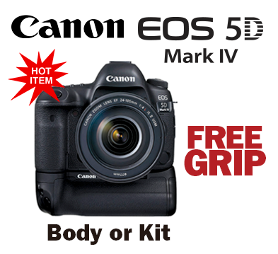 Canon EOS 5D Mark IV with Free Grip
