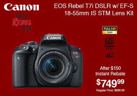 Canon EOS Rebel T7i Lens Kit