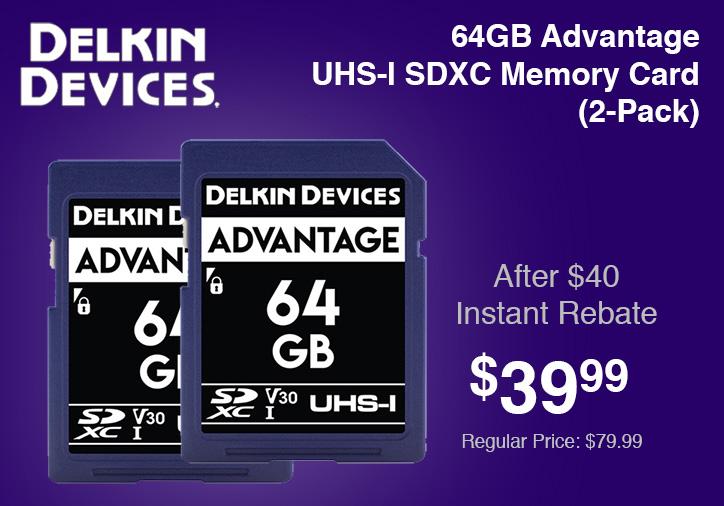 Delkin 64GB Memory Card 2 Pack
