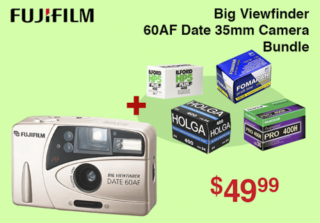 Fujifilm 60 AF Date 35mm Camera Bundle