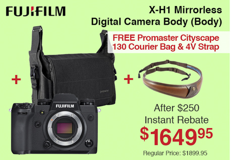 Fujifilm X-H1 Mirrorless Camera Body with Bag and 4V Strap
