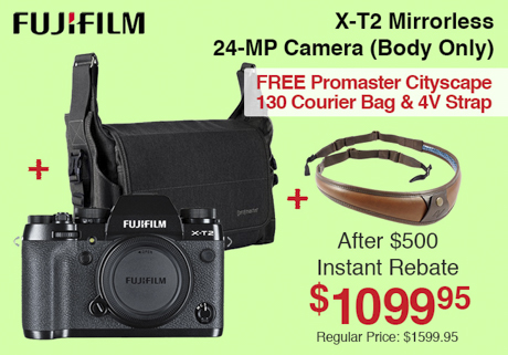 Fujifilm X-T2 Mirrorless Camera with Bag and Strap