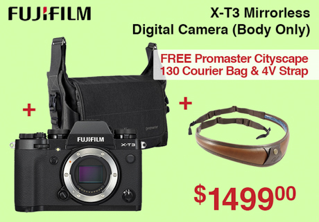 Fujifilm X-T3 with Bag and 4V Strap