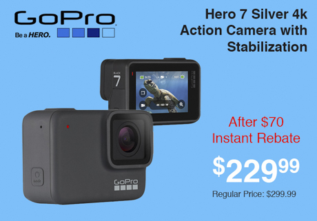 GoPro Hero 7 Silver 4K Action Camera with Stabilization