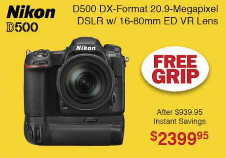 Nikon D500 Kit with Free Grip