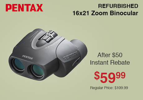 Pentax Refurbished 16x21 Binocular