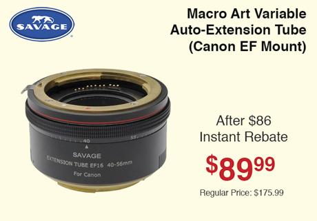 Savage Macro Art Variable Auto-Extension Tube