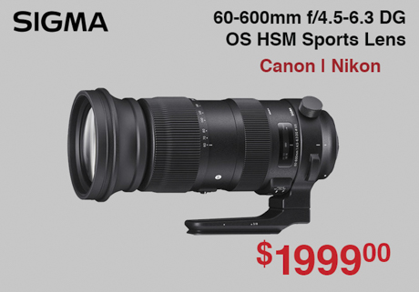 Sigma 60-600mm