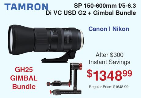 Tamron 150-600mm G2 + Gimbal Bundle