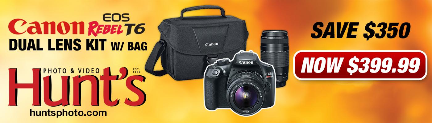Canon Rebel T6 Dual Lens  Bundle
