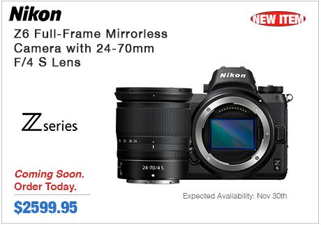 Nikon Z6 Full-Frame Mirrorless Camera w 24-70mm