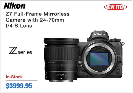 Nikon Z7 Full-Frame Mirrorless Camera w 24-70mm