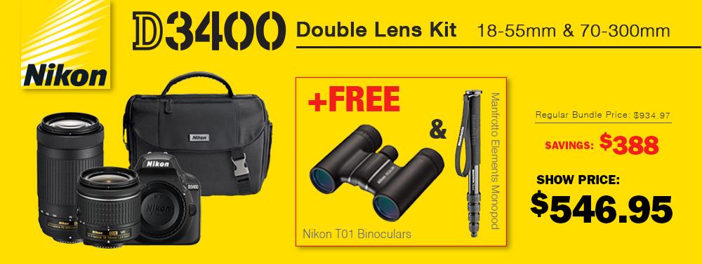 Nikon D3400 Bundle Deal!