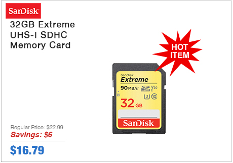 Sandisk 32GB Extreme Memory Card