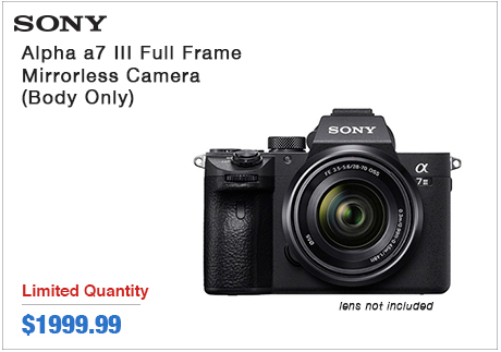 Sony Alpha a7 III Full-frame Mirrorless Camera body only