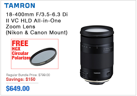 Tamron 18-400mm II All-in-One Zoom Lens