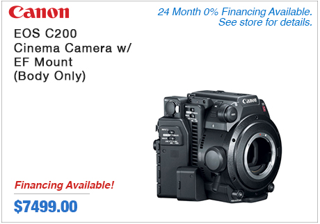 Canon EOS200 Cinema Camera with EF Mount Body only