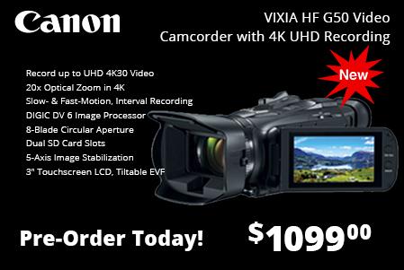 Canon Vixia HF G50 Video Camcorder w/ 4K UHD Recording