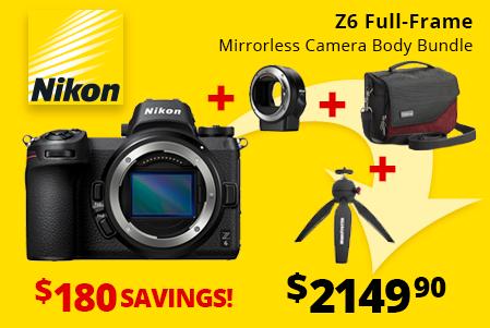 Nikon Z6 Full-Frame Mirrorless Bundle