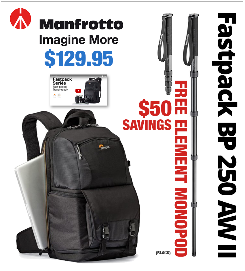 Manfrotto Fastpack BP 250 AW II Black