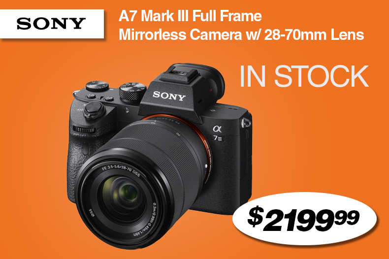 Sony A7 Mark III Full Frame Mirrorless Camera with 28-70mm Lens