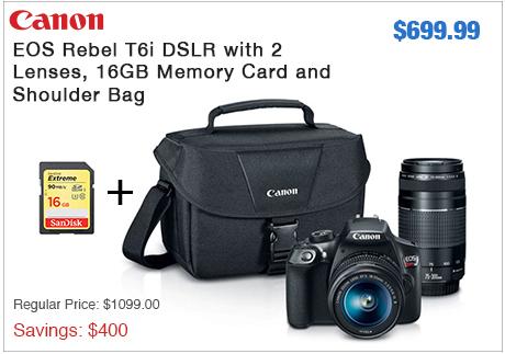 Canon T6i 2 Lens Kit