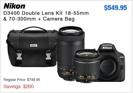 Nikon D3400 Double Zoom Kit