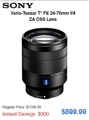 Sony Lens Savings