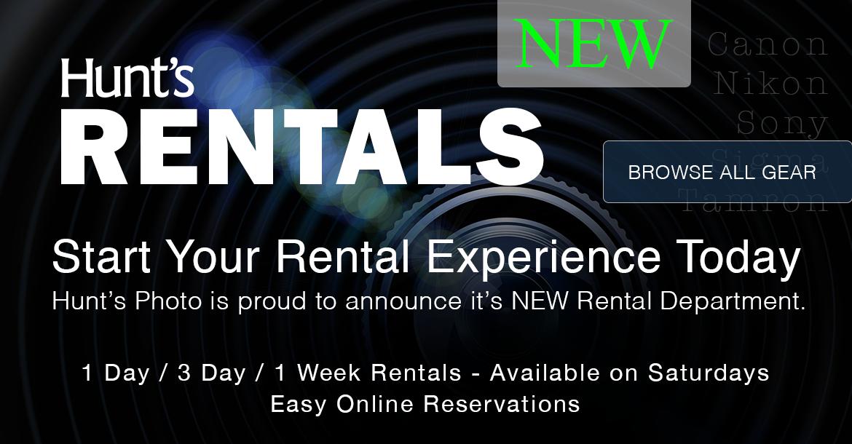 Hunt's Rental Department is Now Open.