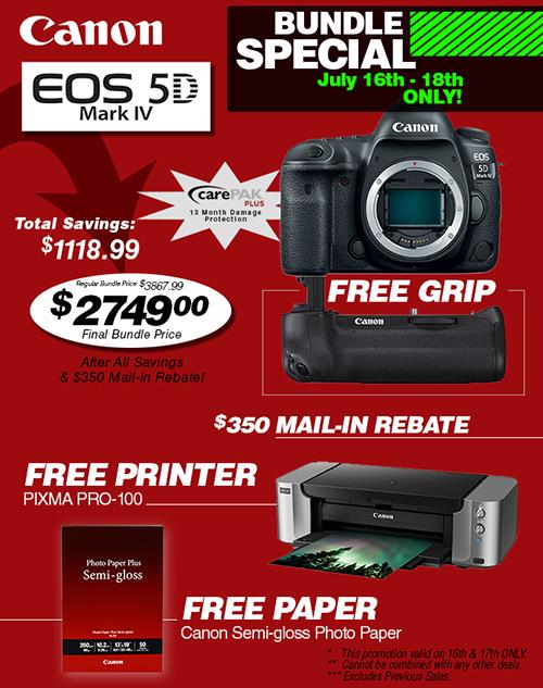 Canon EOS 5D Mark IV Special Bundle