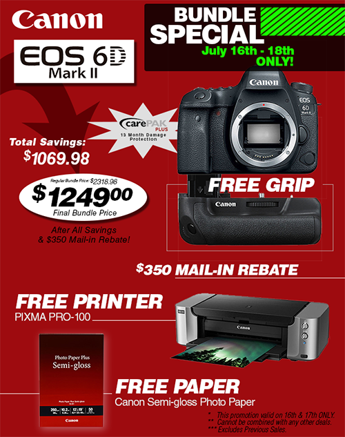 Canon EOS 6D Mark II Special Bundle