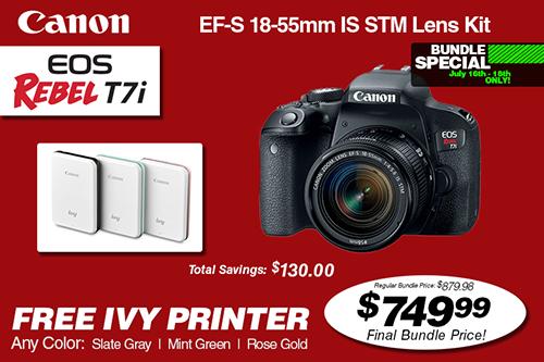 Canon EOS Rebel T7i Bundle Deal
