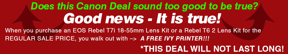 See All Canon EOS 5D IV and Canon EOS 6D Mark II Kit Deals