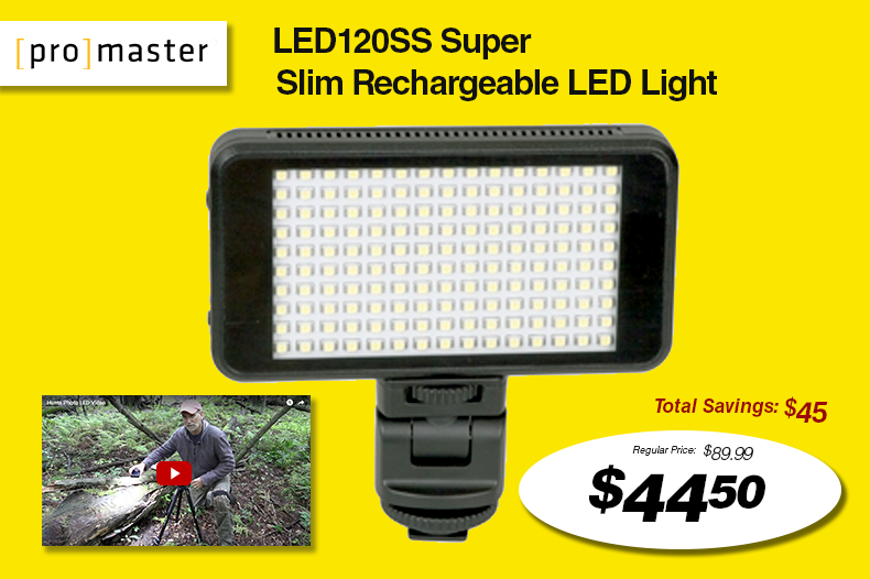 Promaster LED120SS Slim Rechargeable LED Light