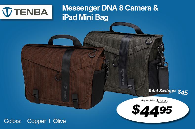 Tenba Messenger DNA 8 Camera & iPad Mini Bags