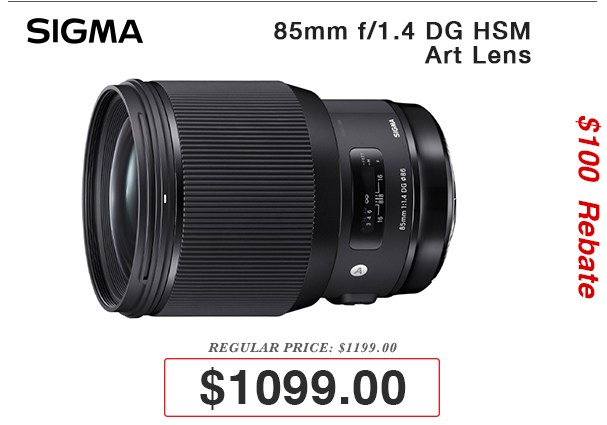 Sigma 85mm Art Lens on Sale!