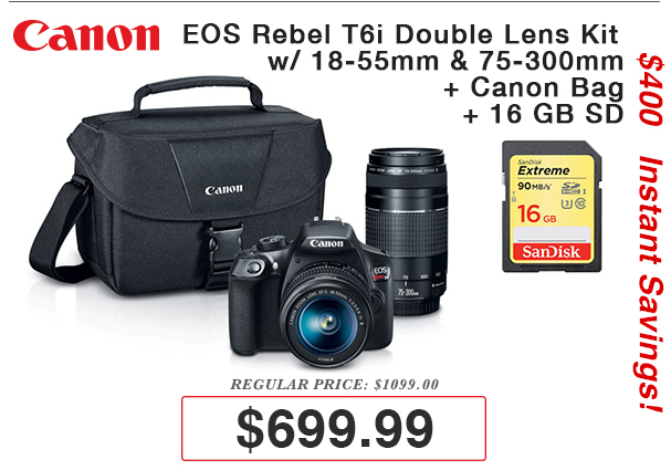 Canon T6i Kit Deal