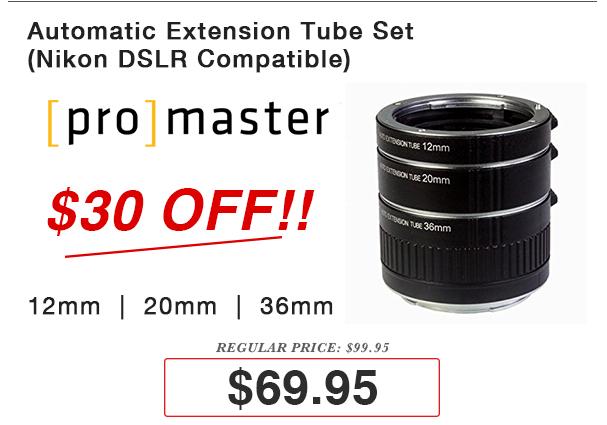 Promaster Nikon Auto Extension Tube Set