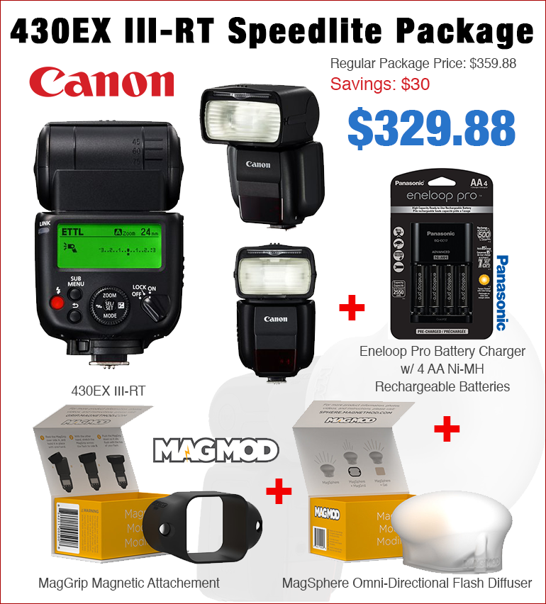 Canon 430EX III-RT Package