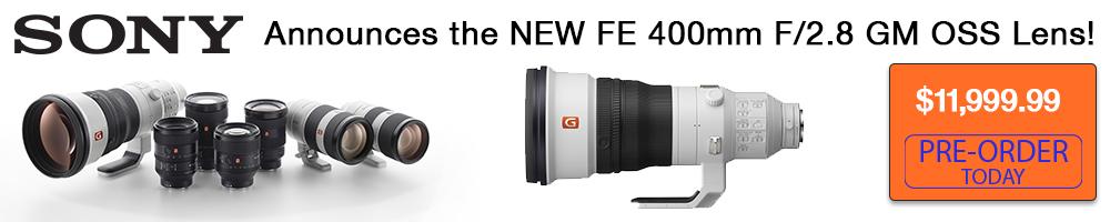 Sony Announces a New 400mm f2.8 Lens!