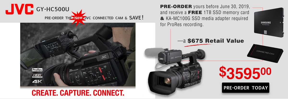 JVC Connect Cam Pre-Order Now and Save $675!
