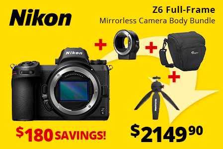 Nikon Z6 Full-Frame Mirrorless Bundle