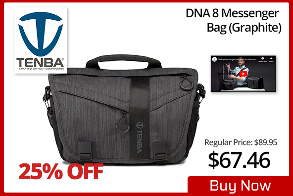 Tenba 8 DNA Messenger Bag - Graphite