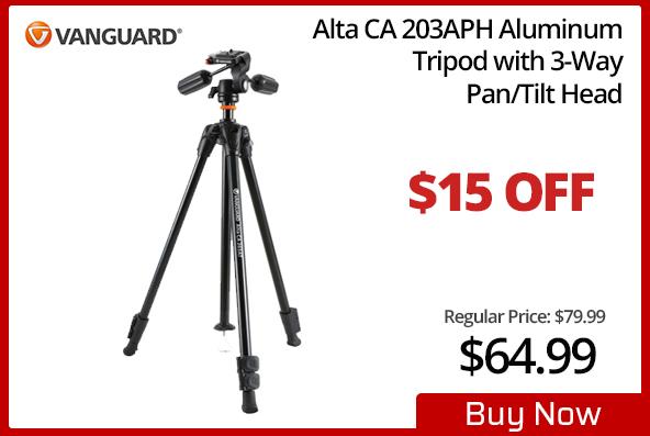 Vanguard Alta CA 203APH Aluminum Tripod with 3-Way Head