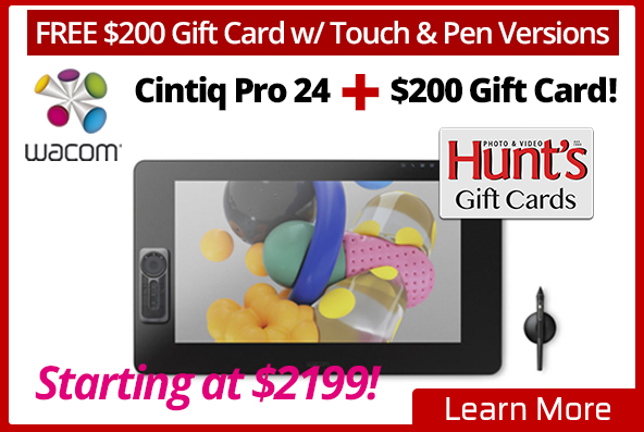 Wacom Cintiq Pro 24 with Hunt's Gift Card