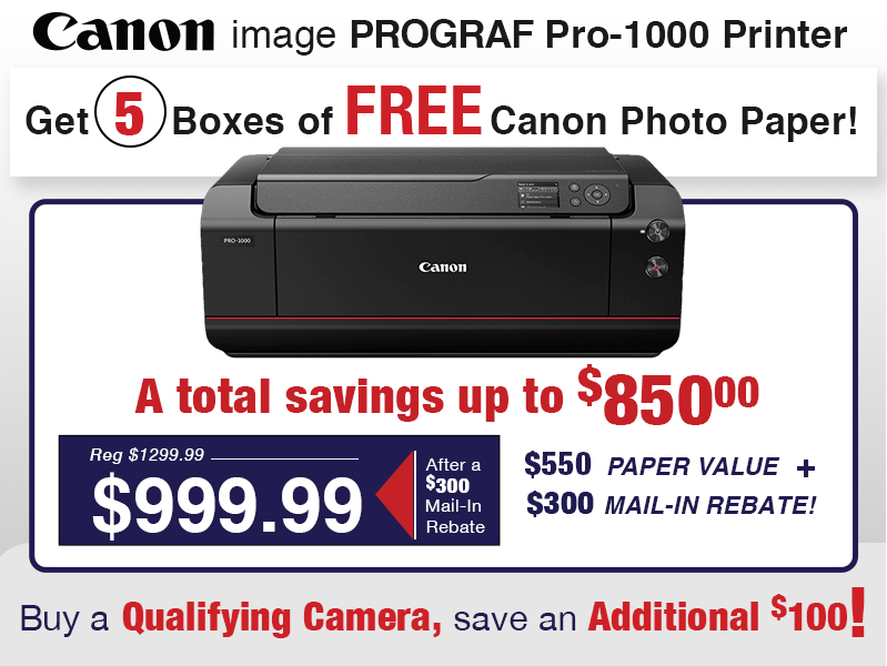 Free Paper with the Pro-1000