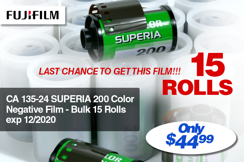 Fujifilm 15 Roll Pack