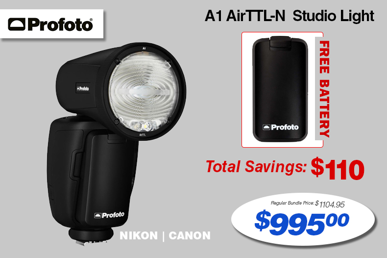 Profoto A1 Flash with a Free Battery